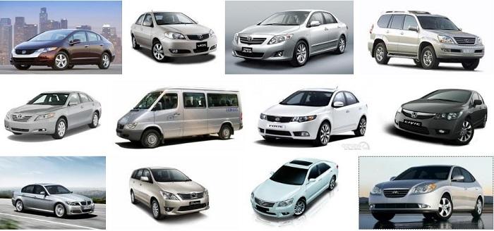 Da dạng loại xe để lựa chọn khi thuê theo tháng