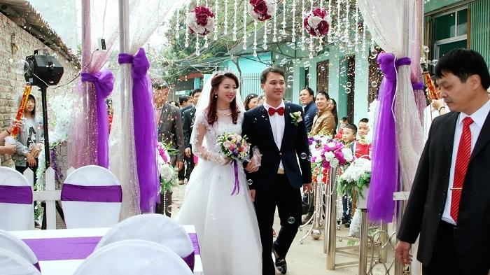 Rộn rã niềm vui ngày cưới với sự chuẩn bị tươm tất